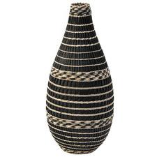Salt & Pepper Black & Natural Horizontal Gallery Vase