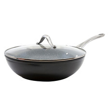 Salt & Pepper Tan-Ium 28cm Aluminium Wok with Lid
