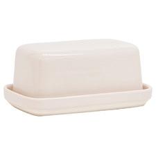 Salt & Pepper Pink Beacon Stoneware Butter Dish