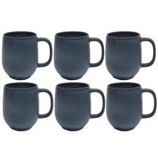 Salt & Pepper Midnight Hue 380ml Stoneware Mugs (Set of 6)