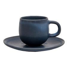 Salt & Pepper Midnight Hue 85ml Stoneware Espresso Cup & Saucer