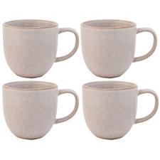 Salt & Pepper Cream Arch 380ml Stoneware Mugs (Set of 4)