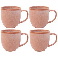 Salt & Pepper Pink Arch 380ml Stoneware Mugs (Set of 4)