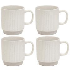 Salt & Pepper Prata 320ml Porcelain Mugs (Set of 4)