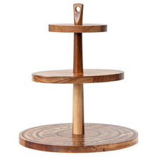 Salt & Pepper Fromage 3 Tier Serving Stand