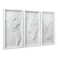 Mapster Triptych Wall Decor