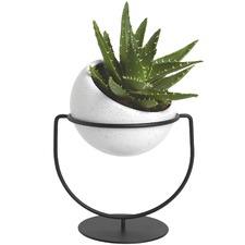 Metal & Ceramic Desk Planter