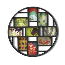 Round Black Mosaic Frame
