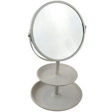 Butler's Vanity Mirror with Accessories Tray