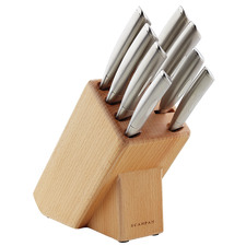 9 Piece Scanpan Classic Stainless Steel Knife Block Set