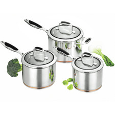 3 Piece Scanpan Coppernox Saucepan Set
