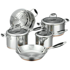5 Piece Coppernox Stainless Steel Cookware Set