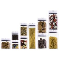 10 Piece Avanti Flip Top Pantry Storage Container Set