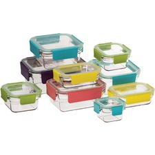 9 Piece Premium Tempered Glass Container Set
