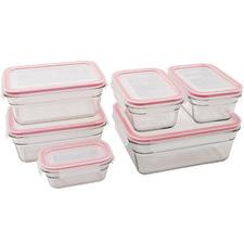 6 Piece Glasslock Oven Safe Container Set