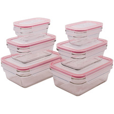 6 Piece Glass Food Storage Container Set