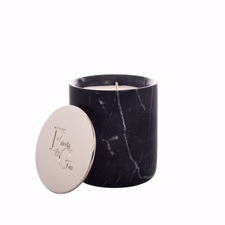 Black Marble & Silver Candle