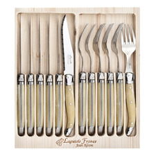 12 Piece Light Horn Laguiole Jean Neron Cutlery Set
