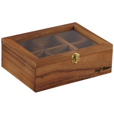 Wooden Tea Box with Glass Top