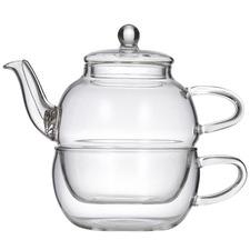 Chrysanthemum Glass Tea For One