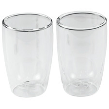Double Wall 280ml Coffee Glasses (Set of 2)