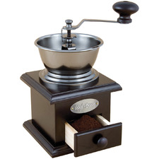 Classic Wood & Steel Manual Coffee Grinder