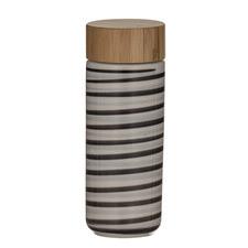 Roma Stripe Double Wall 340ml Stoneware Flask