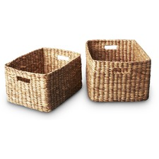 Water Hyacinth Rectangular Storage Basket