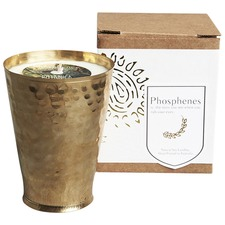 Hand Poured Soy Candle in Brass Lassi Cup