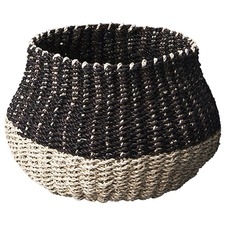 Mini Contrast Seagrass Belly Basket