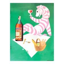 Cinzano Zebra Canvas Wall Art