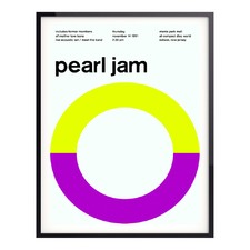 Pearl Jame 1991 Lime Framed Wall Art