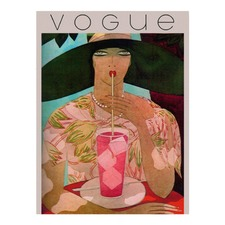 Vintage Vogue Cover Girl 1930'S Canvas Wall Art