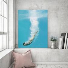 Deep Sea Loving Right Canvas Wall Art