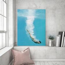 Deep Sea Loving Left Canvas Wall Art