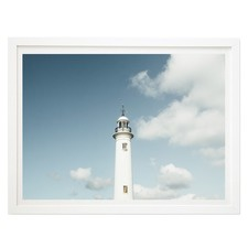 Lighthouse Blues Framed Wall Art