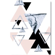 Blushing Triangles Canvas Wall Art