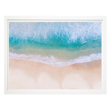 Above Bondi Beach White Framed Printed Wall Art