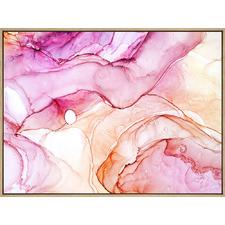 Candy Kisses Drop Shadow Framed Canvas Wall Art