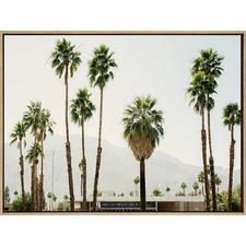 Desert Love Drop Shadow Framed Canvas Wall Art