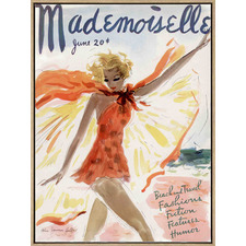 Mademoiselle Drop Shadow Framed Canvas Wall Art
