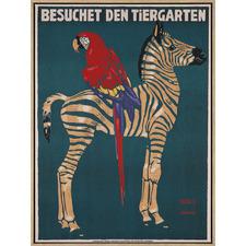 Munich Zoo Zebra Canvas Wall Art