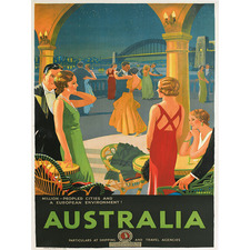 Vintage Australia 1920 Canvas Wall Art