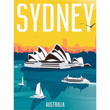 Vintage Sydney Canvas Wall Art