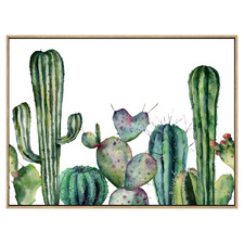 Mexican Soilders Shadow Framed Canvas Wall Art