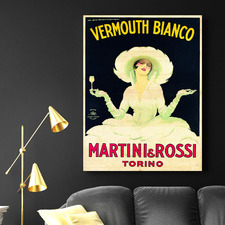 Vermouth Bianco Vintage Canvas Wall Art