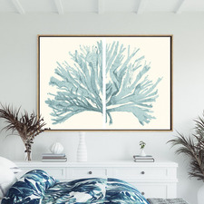 Split Coral Canvas Wall Art