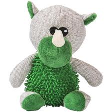 Green Rhino Squeaker Dog Toy