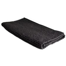 Charcoal Hampton Cable Knit Bath Mat