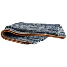 Stripy Odyssey Cotton & Leather Rug